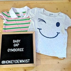 Bundle of 2 Toddler Tops Tee and Polo